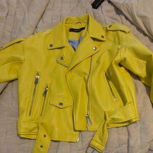 Zara Yellow Faux Leather